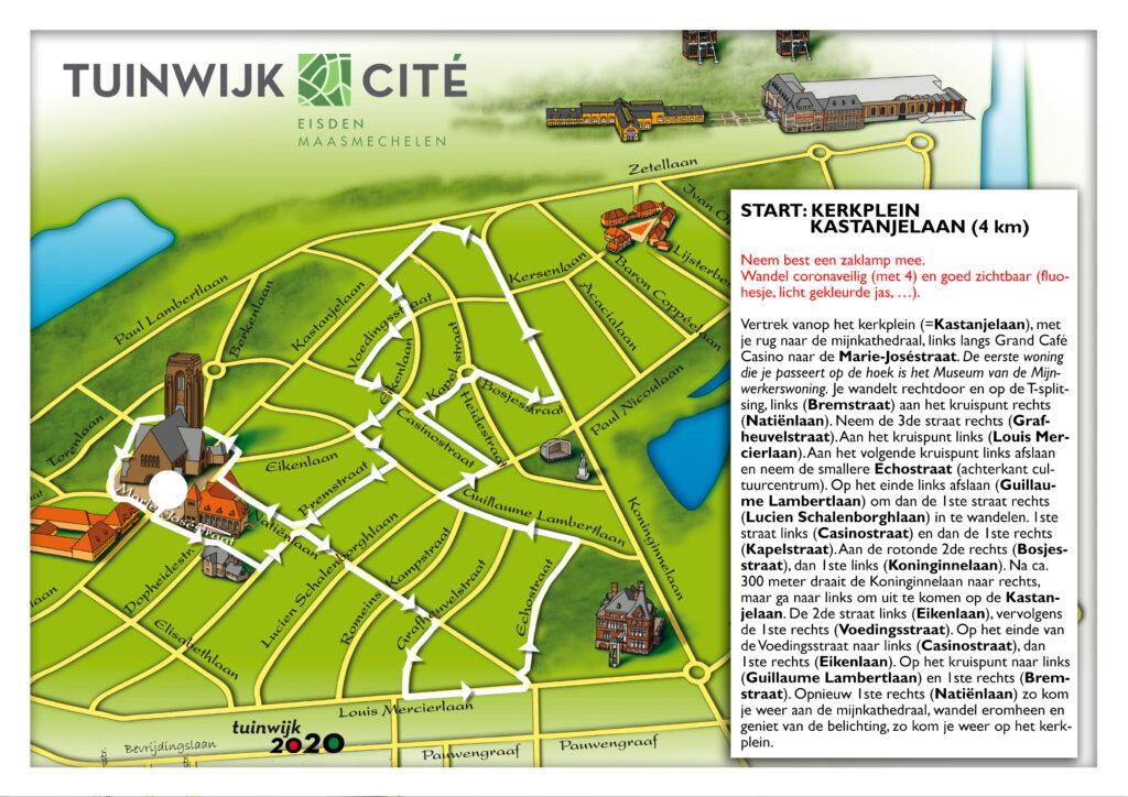 Wandelroute wit - oude Cité